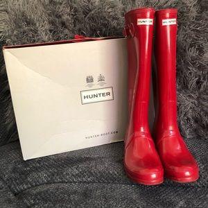 Hunter Original Tall Red Gloss Boots ❤️